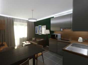 Отделка студии в апарт-отеле М97